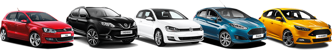 Line Up Of Different Cars | UK Car Finance