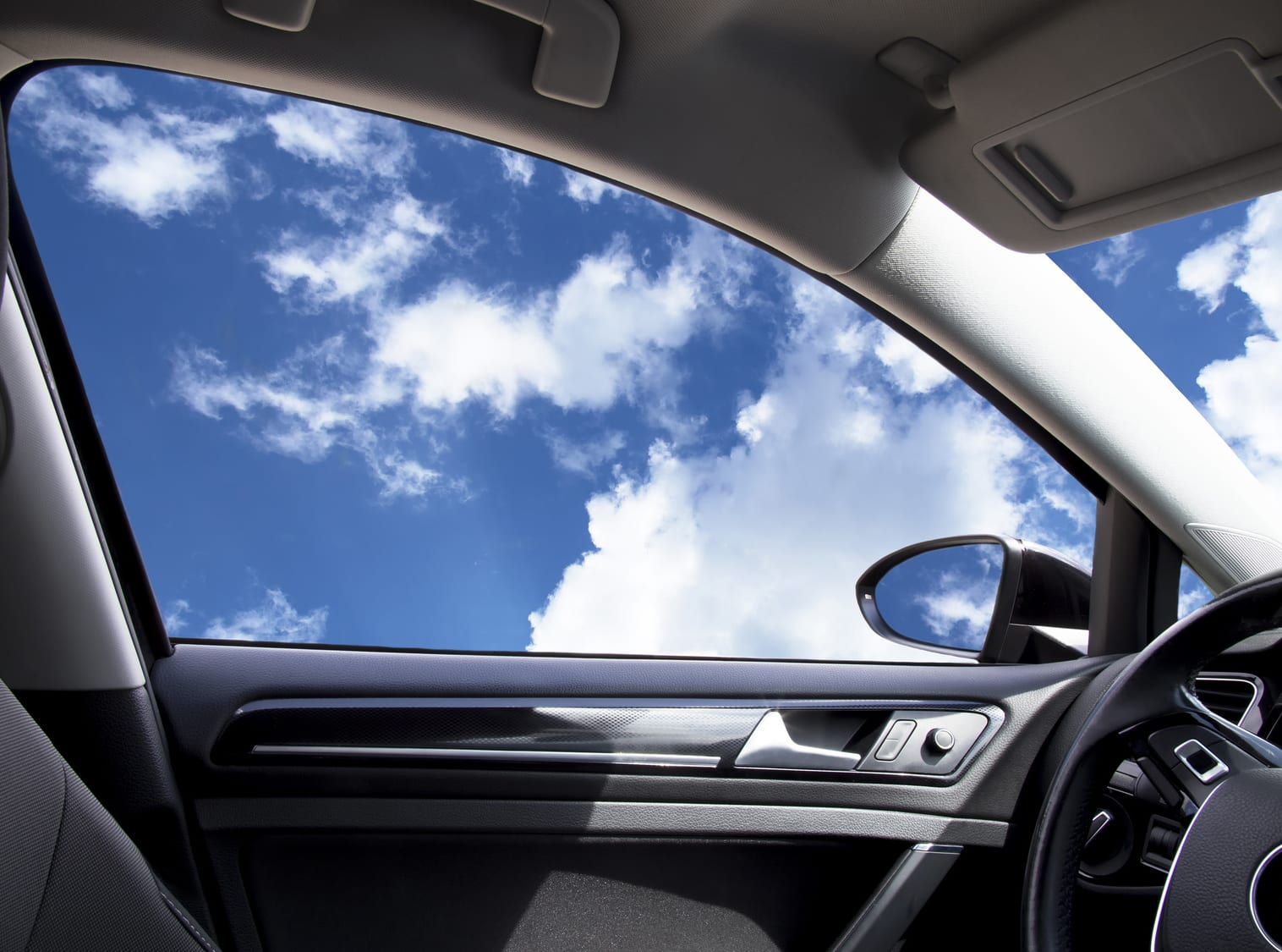 Car With Blue Sky | UK Car Finance