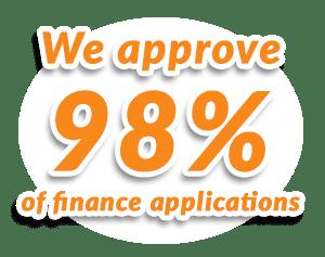we approve 98 percent