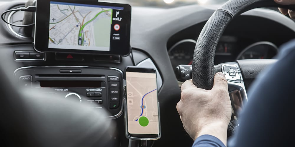 using handsfree device in car