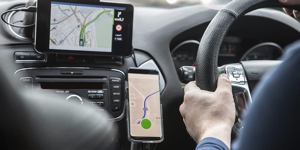 using handsfree device in car